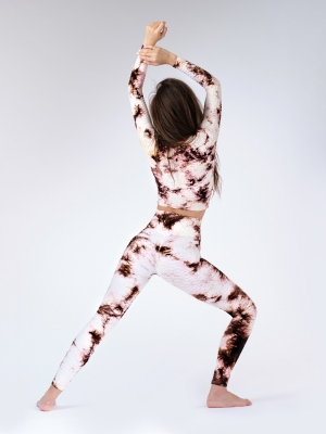 Anti Cellulite Leggings - Brown Print