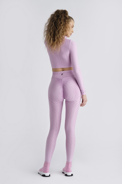 3D Leggings - Light Pink
