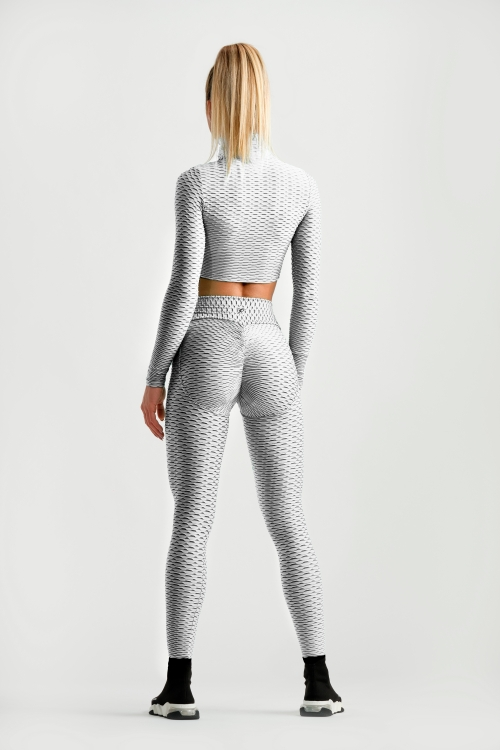3D Leggings - White