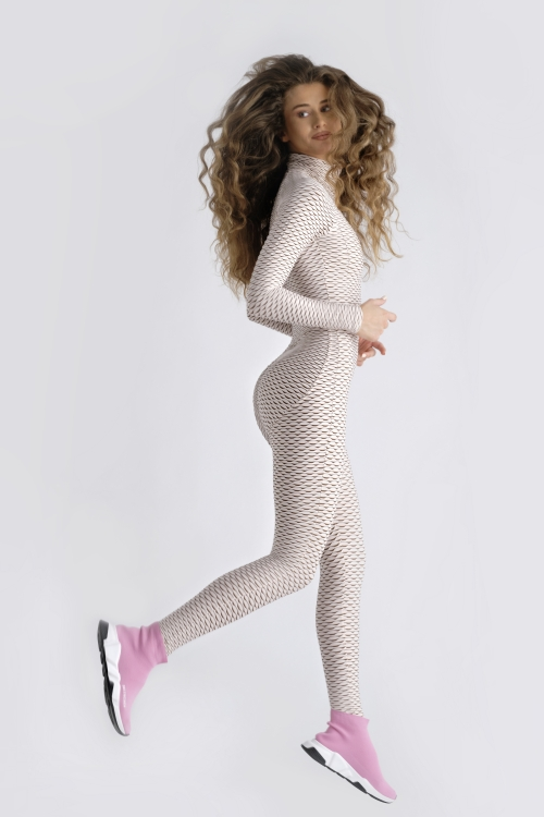 3D move Jumpsuit - Ivory