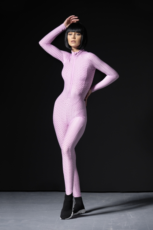 3D move Jumpsuit - Light Pink