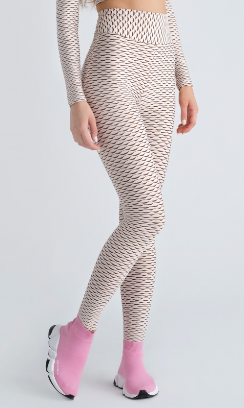Imperfect 3D Leggings - Ivory