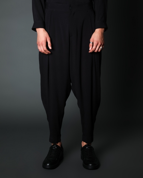 Low Black Trousers